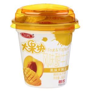 三元 大果块风味发酵乳 黄桃&芒果酸奶 260g *41件149.3元(合3.64元/件)