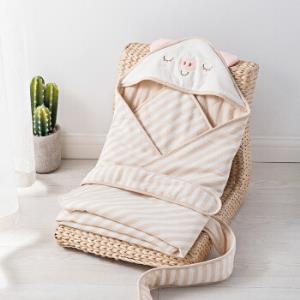 威尔贝鲁(WELLBER) 婴儿抱被新生儿包巾宝宝襁褓秋冬厚棉小猪猪80*80cm49元