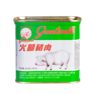 GREAT WALL 长城 小白猪火腿猪肉午餐肉 原味340g    14.9元