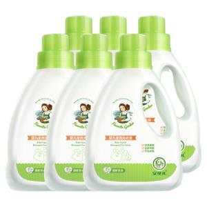 安贝儿婴儿洗衣液宝宝专用新生儿尿布皂液清洗剂无荧光剂幼儿童洗衣液1000ml*6瓶装69.4元