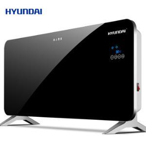 韩国现代(HYUNDAI)取暖器家用/电暖器/智能遥控欧式快热炉壁挂对流暖气片BL-B1-D黑379元(需用券)