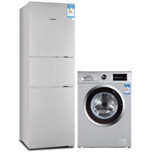 博世(BOSCH) BCD-274W(KGU28A260C)+XQG80-WAN241680W 银色智享科技冰箱洗衣机套装7298元