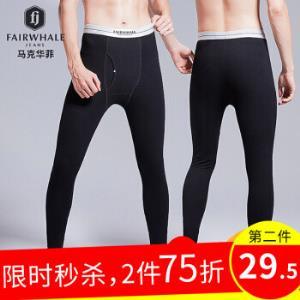 MARK FAIRWHALE 马克华菲 8118B 男士保暖裤 *3件 125.79元(合41.93元/件)