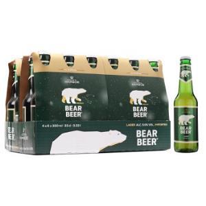 德国进口哈尔博(Harboe)绿熊啤酒 500ml 24瓶 *2件139元(合69.5元/件)