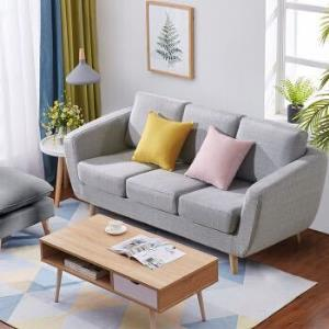 L&S 沙发 北欧式沙发现代小户型客厅沙发 布艺三人沙发椅S336    899.5元