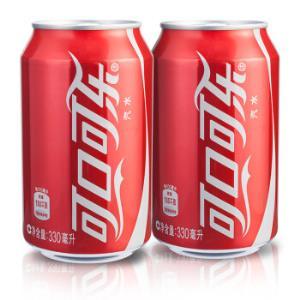 Coca Cola 可口可乐 汽水 330ML 6罐 铝罐装10.9元