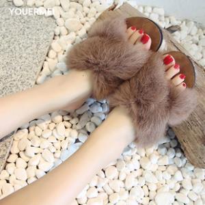 优而美 外穿社会平底时尚秋季网红兔毛鞋 券后¥13.9