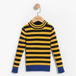 gxg kids童装冬季新品黄黑条纹中领女童针织毛衣B17410321 *3件409.9元(合136.63元/件)
