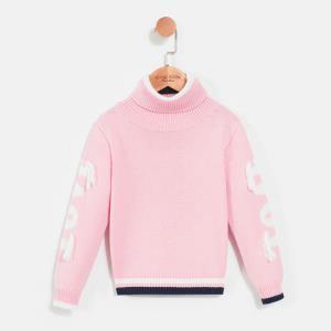 gxg kids童装冬季儿童新款加厚女童粉色高领毛衣B17410207 *3件429.9元(合143.3元/件)