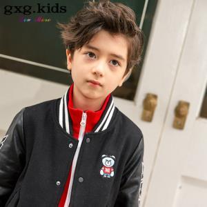 gxg kids童装冬新款加厚保暖时尚帅气男童呢子大衣中长款外套#A6426172 *3件472.9元(合157.63元/件)
