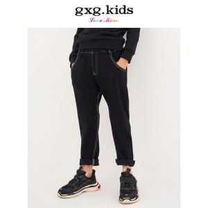 gxg kids童装2018秋季专柜新款男童牛仔裤黑色简约长裤A17302332 *3件283.9元(合94.63元/件)