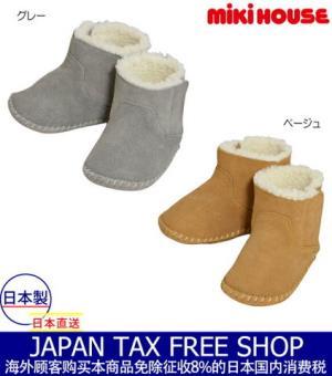 Miki房屋mikihouse书牛皮长筒靴的之前鞋10800日元(约662.04元)