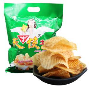 天使薯片 休闲零食土豆片麦香炸鸡味116g 8.5元