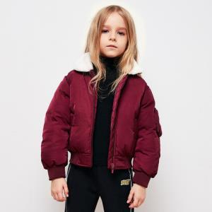 MQD童装女童羽绒服2018冬季新款羊羔绒毛领保暖羽绒服90%白鸭绒 *3件 1059.9元(合353.3元/件)