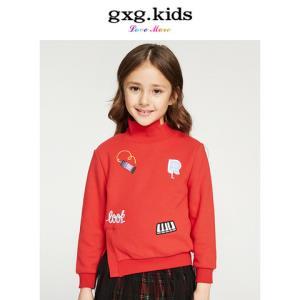 gxg kids童装2018冬装新款女童个性高领卫衣外套上衣潮KA231508G *3件325.9元(合108.63元/件)