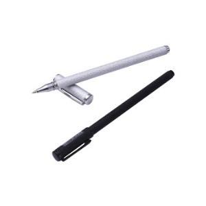 至尚・创美 SCM K25碳黑0.5mm金属中性笔 黑银两色装子弹头金属签字笔/水笔 2支装 *5件37元(合7.4元/件)
