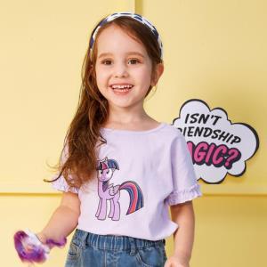 迷你巴拉巴拉女童短袖T恤2018年夏装新款宝宝小马宝莉打底衫t恤 *2件69元(合34.5元/件)