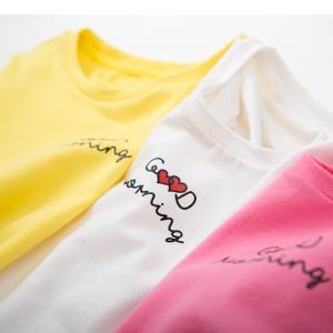 迷你巴拉巴拉儿童上衣女夏装短袖T恤打底衫半袖女童宝宝棉T恤 *2件45元(合22.5元/件)