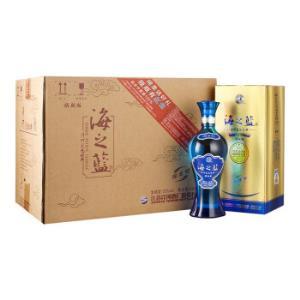 洋河蓝色经典 海之蓝 52度 整箱装白酒 520ml*6瓶(内含3个礼袋) 口感绵柔浓香型 718元