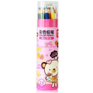 得力(deli)24色绘画艺术写生彩铅彩色铅笔 桶装 包装颜色随机7014 *8件72.4元(合9.05元/件)
