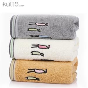 古田兔 品质纯棉毛巾3条 券后¥20.8