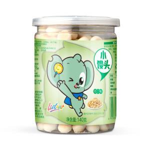 Udear 小馒头 布丁味 140g 宝宝零食 *5件39.5元(合7.9元/件)