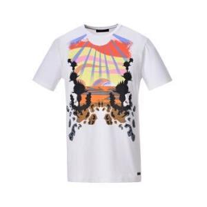 TRUSSARDI JEANS杜鲁萨迪 18春夏 男士白色棉质印花图案圆领短袖T恤52T00104 1T000791 W001 S码555.5元