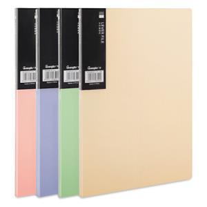 广博(GuangBo)4只装4色A4单强力文件夹板+插页/彩色资料夹 晶彩A9050 *6件96元(合16元/件)