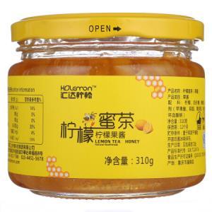 汇达柠檬蜜茶 柠檬蜜茶 果酱 水果茶 310g *2件19元(合9.5元/件)