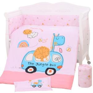 象宝宝(elepbaby)床品八件套 婴儿床品套件 可拆洗床围床单被套被芯枕套枕芯(汽车达人粉)204元(需用券)