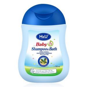 H&U 婴儿沐浴洗发露 50ml4.9元