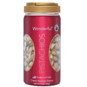 美国进口 万多福(Wonderful)加州开心果经典盐�h味508g 罐装 坚果零食99元