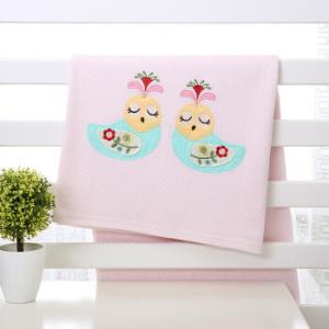 AUSTTBABY 婴儿床单 纯棉被单宝宝新生儿床上用品 维多利亚刺绣 *3件97元(合32.33元/件)