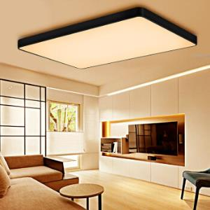 雷士照明(NVC)北欧led吸顶灯客厅灯卧室灯 现代时尚简约风灯具智能无极调光长方形黑色126W899元