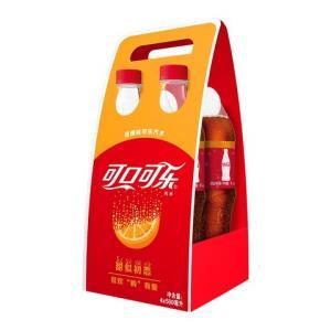 可口可乐 Coca-Cola 橙子可乐 香橙味汽水 碳酸饮料 500ml*4瓶 限量款 可口可乐公司出品20.64元