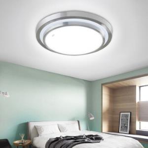 雷士照明(NVC)吸顶灯 led灯具 卧室阳台过道灯 创意双层立体设计边框 圆形单色光 18W *5件595元(合119元/件)