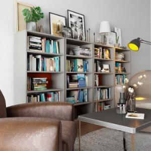 优主意 书架书柜隔断柜办公室简约格子置物架多款多色性价比高 套格・B款-奶咖浅赤铜299元