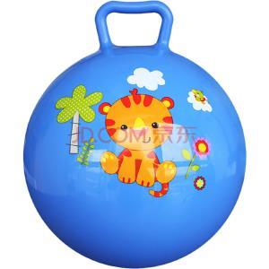 费雪(Fisher Price)儿童玩具球 宝宝小皮球摇摇球10寸(蓝色 赠送打气筒)(折1件)11.45元