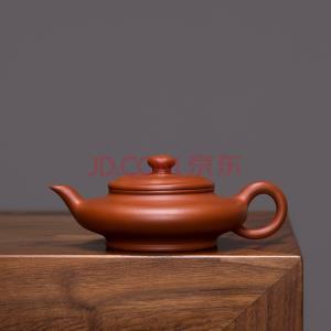 虚扁朱泥 宜兴紫砂壶 名匠全手工制紫砂茶壶150cc小容量紫砂茶具 史德中制 虚扁¥169