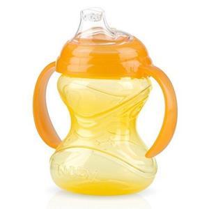 Nuby 努比 咔嗒防漏双耳鸭嘴杯 240ml 黄色 *3件44.25元(合14.75元/件)