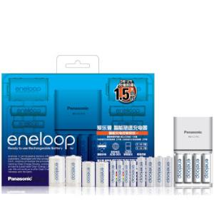 爱乐普(eneloop)充电电池5号7号五号七号共12节家庭装适用遥控玩具KJ55MCC84C含55快速充电器369元