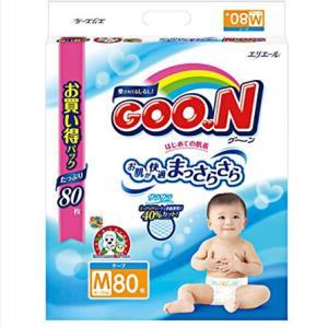 Goo.n大王 维E系列 婴儿纸尿裤 M80 *4件 372元(合93元/件)