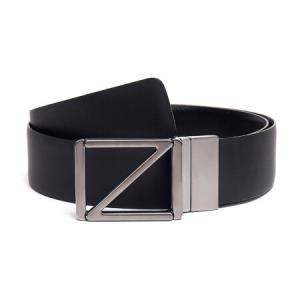 Z ZEGNA 杰尼亚 奢侈品 18秋冬新款 男士黑色牛皮板扣式双面皮带腰带 BGOSX1 505A NER 100cm1999元