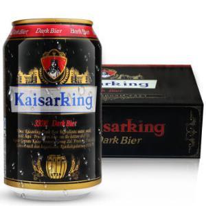 KAISARKING 凯撒王 德国工艺精酿黑啤 330ml*24听 *2件127.6元(合63.8元/件)