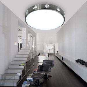雷士照明(NVC)吸顶灯 led灯具 卧室阳台过道灯 创意镂空太阳花拉丝铝边框 圆形单色光 24W149元