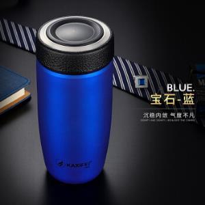 卡西菲(kaxifei) 创意车载保温杯水杯 男女士商务办公旅行便携杯子304不锈钢茶杯 智耀蓝色79元