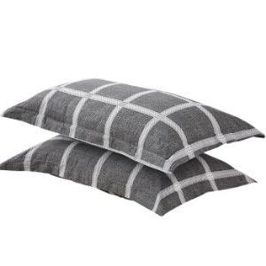 九洲鹿 枕套家纺 全棉枕套枕头套枕芯套 一对装 48*74cm27.9元