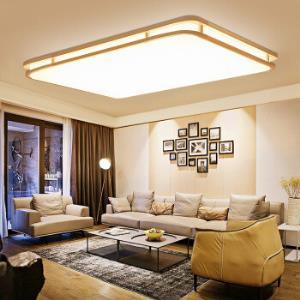 雷士照明(NVC)吸顶灯客厅灯卧室灯led灯具智能无极调光带遥控器长方形100W999元