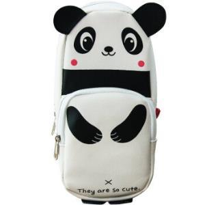 广博(GuangBo)大容量铅笔袋学生文具袋收纳袋萌宠熊猫 HBD02358 *6件82元(合13.67元/件)