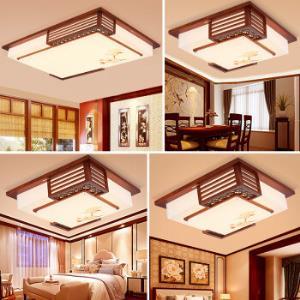 雷士照明(NVC)LED中式灯客厅灯吸顶灯卧室灯 套餐灯具组合三室一厅 现代中式家居木艺灯具2099元
